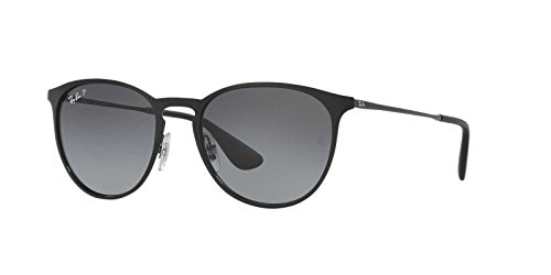 Ray-Ban Womens Erika Metal Sunglasses (RB3539) Black/Grey Metal - Polarized - 54mm
