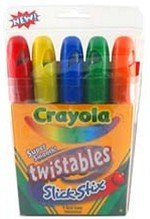 Art Supplies 9505 Crayola Twistables Slick Stix - 5 Pack -