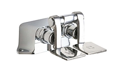 (Chicago Faucets 625-ABCP Floor Mount Double Pedal Valve, Chrome)