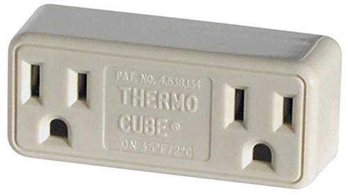 (Farm Innovators TC-3 Cold Weather Thermo Cube Thermostatically Controlled Outlet - On at 35-Degrees/Off at 45-Degrees)