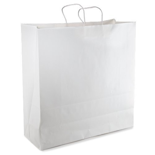 White Paper Bag With Handle 18 x 7 x 19-24/pack
