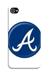 ArtPopTart Iphone 4/4s Protective Case,Fashion Popular Atlanta Braves Designed Iphone 4/4s Hard Case/Mlb Hard Case Cover Skin for Iphone 4/4s