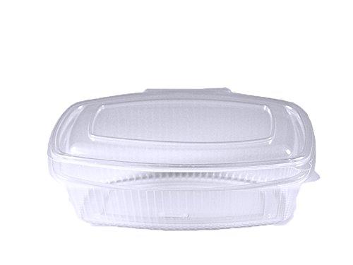 Feinkostbecher oval klar mit Deckel 125 ml PP 50 St.