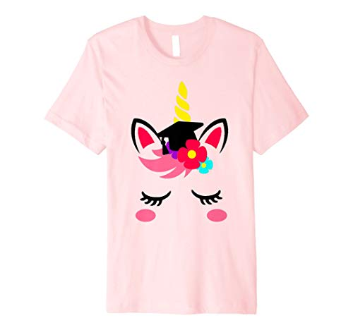 Kindergarten Girls Graduation Cap Unicorn Face Gift T Shirt ()