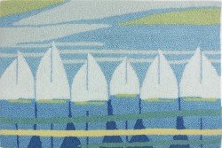 Homefires Rugs Dan Meneely PY-DM002 Sailing Regatta Rug44; 22 x 34 in.