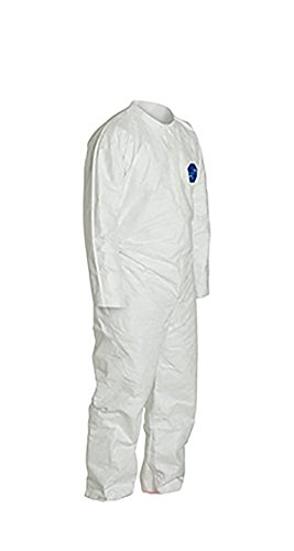 DuPont Tyvek 400 TY120S Disposable Protective Coverall, White, 5X-Large (Pack of 25) by DuPont (Image #2)