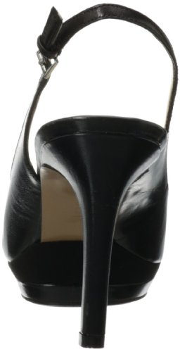 Nine West Capaz de la sandalia Black/Black Leather
