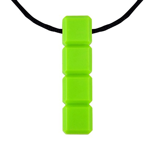 chewelry-quad-blockz-chewable-oral-motor-sensory-aid-tool-block-piece-necklace-extra-tough-green-by-