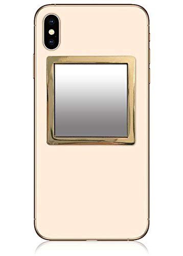 iDecoz Phone Mirror/Sticks on The Back of Your Phone or case. The Replacement for The Compact Mirror. Its The Best Way to Check Yourself Out On-The-Go! (Gold)
