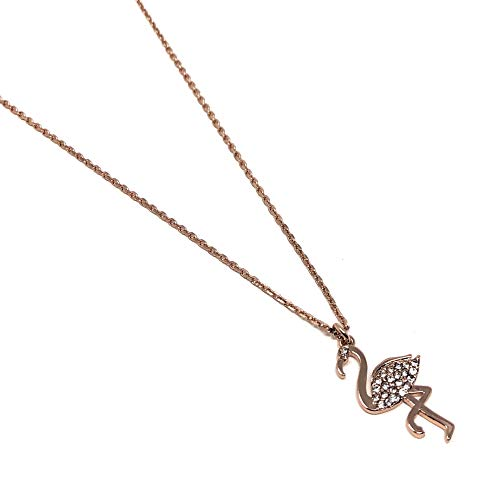 Charm Necklace Spade - Kate Spade New York by The Pool Flamingo Rose Gold Plated Charm Pendant Necklace