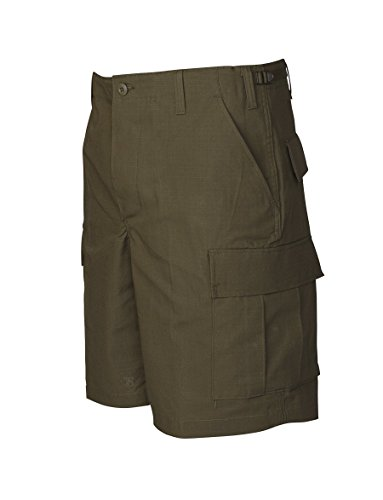 Tru-Spec Men's BDU Zipper Fly Shorts, Olive Drab, Large/Regular