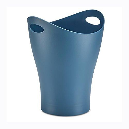 Umbra Garbino Small Trash/Waste Can – Polypropylene – Mist Blue