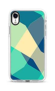 Stylizedd iPhone XR Cover Impact Pro White Military Grade Shockproof Case - Checkered Aqua Full