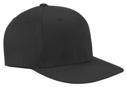 Yupoong Flexfit Wooly Sewn Eyelets Baseball Cap, Black, Large / X-Large (Hats For Wholesale)