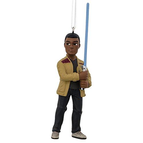 Hallmark Disney Lucasfilm Star Wars Force Awakens Finn Christmas Ornaments, Finn, Finn