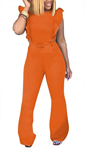 Zipper Pocket Denim Flare Pant - LROSEY Women's Sexy Bodycon Sleeveless Denim Jumpsuit Backless Solid Flare Bell Bottoms Long Pants Romper with Zipper Plus Size