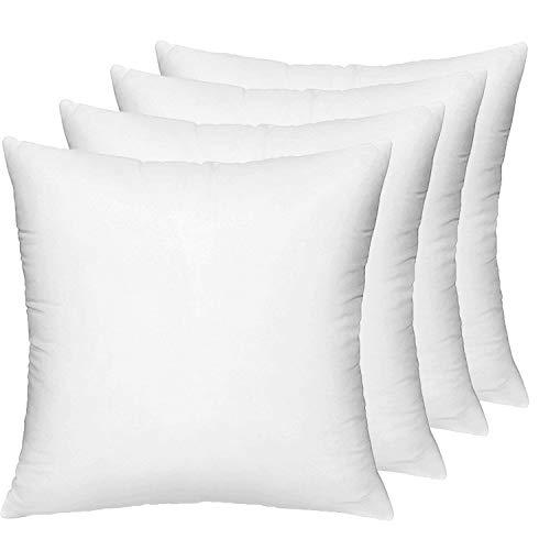 HIPPIH 4 Pack Pillow Insert - 18 x 18 Inch Hypoallergenic De