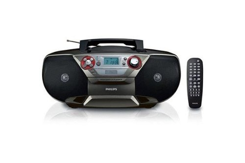 Philips AZ5741 DVD Soundmachine - Boombox with Region Free DVD Player, CD, FM Stereo, MP3/WMA Music, (S)VCD, Picture CD and USB Direct (110V-240V) ()