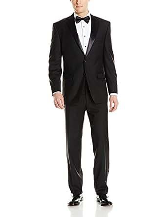 Calvin Klein Men's Modern Fit 100% Wool Tuxedo, Black, 36 Short