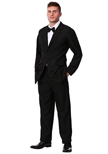Mens Black Suit Costume - XL