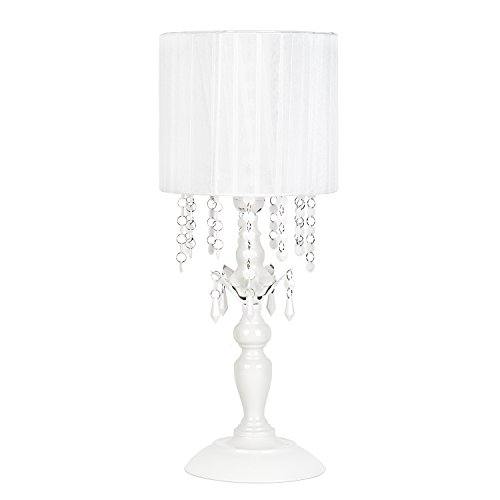 haded Chandelier Table Lamp, White ()
