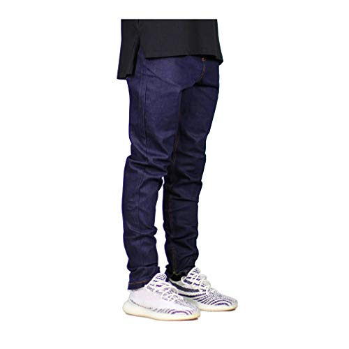 Ariosto0 Men Skinny Jeans Fashion Stretch Jeans Zippers Hip Hop Jeans Blue ()