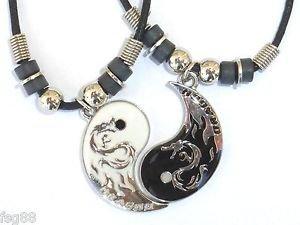 Amazon new best friend dragon yin yang 2 pendants necklace new best friend dragon yin yang 2 pendants necklace set bff friendship ying aloadofball Choice Image