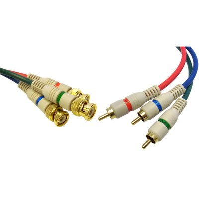 6ft, Component Video Cable, 3 RCA to 3 BNC Male (2 PACK)