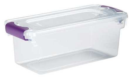 Storage Tote, Polypropylene, Clear, 7.5 - Clear Polypropylene Totes