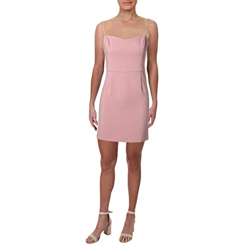 French Connection Women's Whisper Light Sleeveless Strappy Stretch Mini Dress, Teagown Sweet, - Sweet Pink Dress
