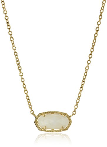 Kendra Scott Signature Elisa Gold Plated White Mother Of