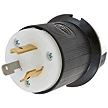 (HBL2321 Hubbell 2321 Twist-Lock Devices 20A, 250V AC, 2 Pole, 3 Wire Grounding Insulgrip Plug 20 AMP 2P)