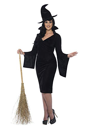 Smiffys Women's Witch Costume, Dress and Hat, Legends of Evil, Halloween, Plus Size 22-24, 44351 ()