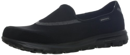 Skechers Performance Women's Go Walk Slip-On Walking Shoe, Black, 8.5 M US