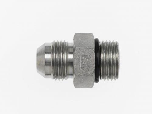 Straight Adapter 3//16 in Male JIC 37/° Flare x 3//16 in Male O-Ring Boss Steel Brennan 4 Units