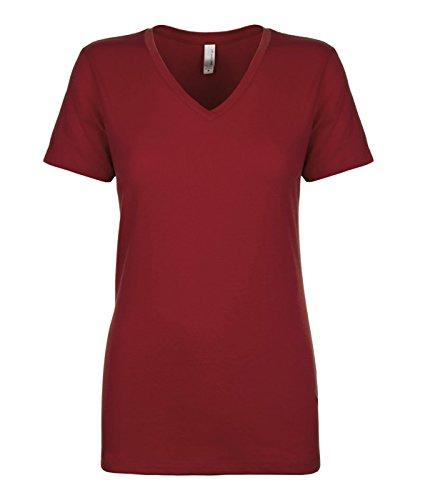 Scarlet Kids Shirt (Next Level Women's Lightweight The Ideal V-NeckT-Shirt, Scarlet, X-Large)