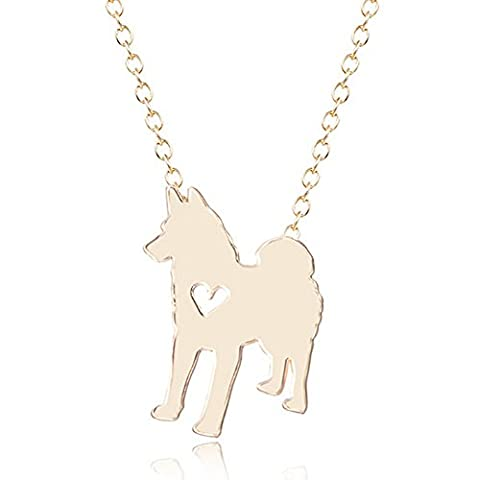 ZQ 2016 Fashion Lovely Animal Samoyed Dog Pendant Necklace Chain With Heart For Unisex All Style 18