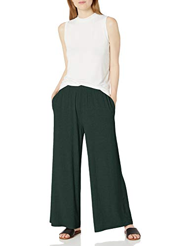 Amazon Brand - Daily Ritual Women's Rayon Spandex Wide Rib Lounge Pant