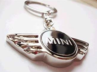 color negro Llavero metal dise/ño con logotipo de Mini Cooper