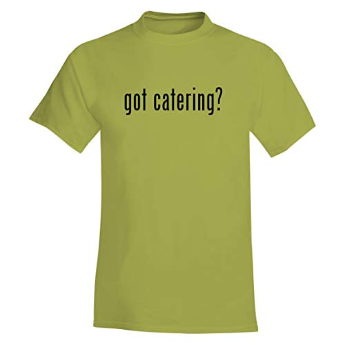 The Town Butler got Catering? - A Soft & Comfortable Men's T-Shirt, Yellow, Large ()