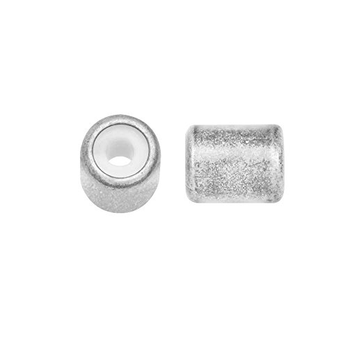 Beadaholique Adjustable Slider Clasp, Tube with Silicone Center 5.5x6.8mm, 4 Pieces, Antiqued Silver Tone