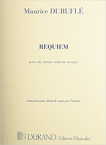 Requiem organ vocal score op9 maurice durufl 9781458418005 requiem organ vocal score op9 maurice durufl 9781458418005 amazon books fandeluxe Images