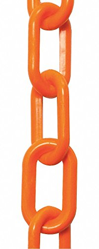 Plastic Chain,2 In x 50 ft,Safety Orange by Mr. Chain