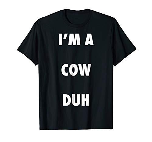 (Easy Halloween Cow Costume Shirt for Men Women)