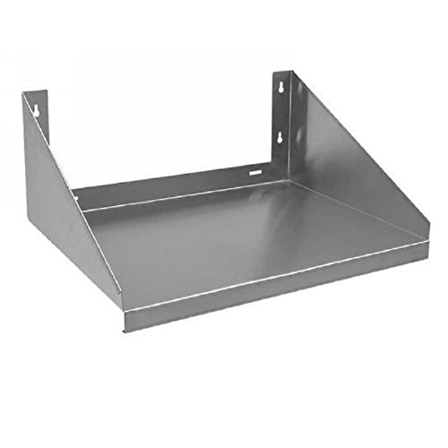 "- Royal Industries Microwave Shelf Solid 18""x24"" Wall Mounted Shelf, Stainless Steel 18 Gauge, Silver, Capacity 185 LB, Commercial Grade-NSF Certified"