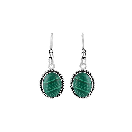 Vibgyor Vibes Oxidised Ethnic Fish Hook Tear Drop Earrings With Coloured Stone for Women and Girls