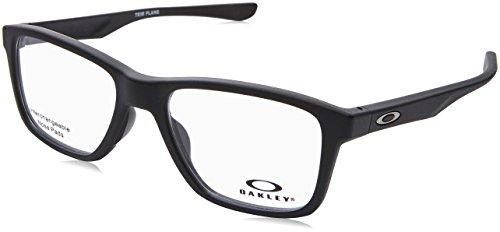 ec10be57af Oakley OX 8107 01 Trim Plane (TRUBRIDGE Satin Black Plastic Square  Eyeglasses 53mm