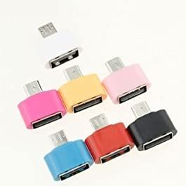 AC Accessories OTG Adapter for All Android Smartphones (Assorted Colour)(Pack of 2)