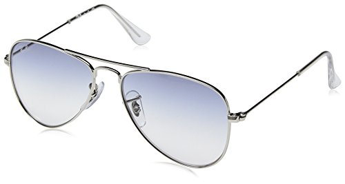 Ray-Ban Junior RJ9506S Aviator Kids Sunglasses, Silver/Blue Gradient, 50 ()