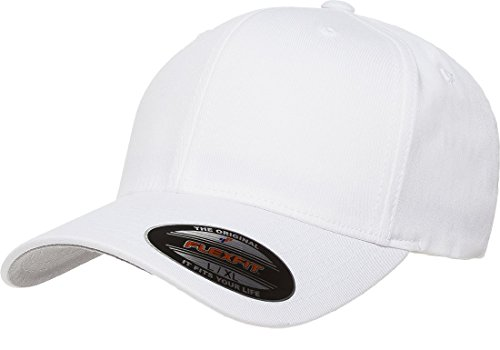 Premium Original Blank Flexfit V-Flexfit Cotton Twill Fitted Hat Cap Flex Fit 5001 Small / Medium - - Flex Hat Fit White